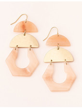 Scout Curated Wears Sunstone & Gold  Stone Cutout Earrings