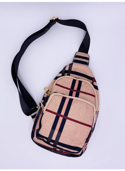 'Crossing the Lines' Sling Satchel (More Colors)
