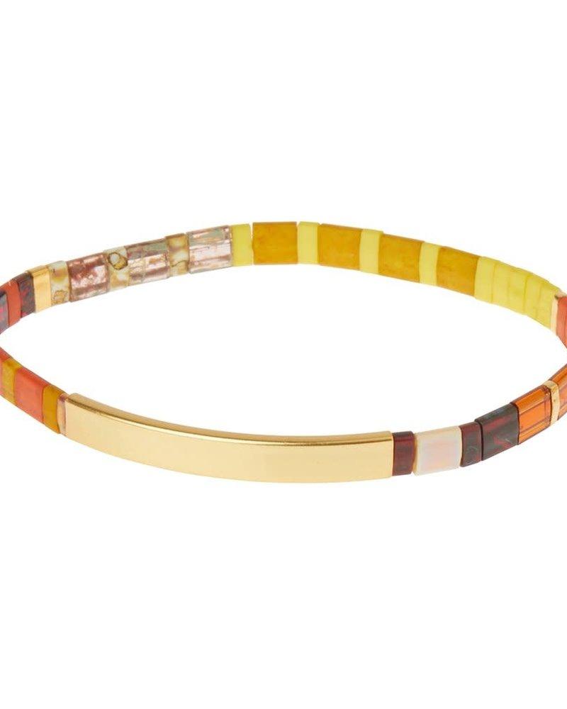 Scout Curated Wears Scout Good Karma Miyuki Bracelet - Be Fierce in Sunset/Gold