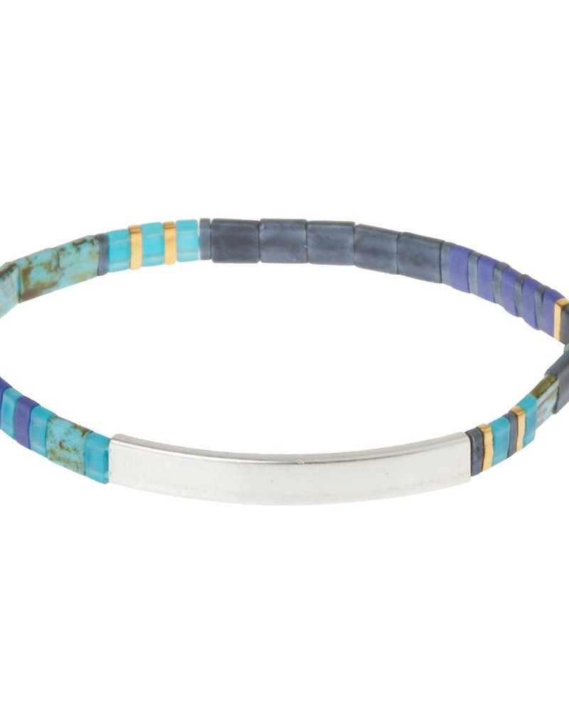 Scout Curated Wears Scout Good Karma Miyuki Bracelet - Brave in Cobalt/Silver