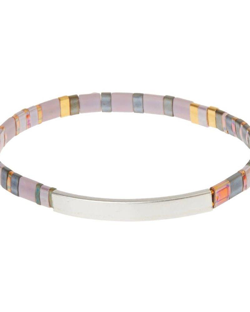 Scout Curated Wears Scout Good Karma Miyuki Bracelet - Pure Magic in Dusk/Silver