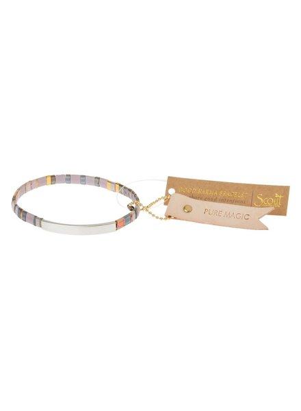 Scout Curated Wears Good Karma Miyuki Bracelet - Pure Magic in Dusk/Silver