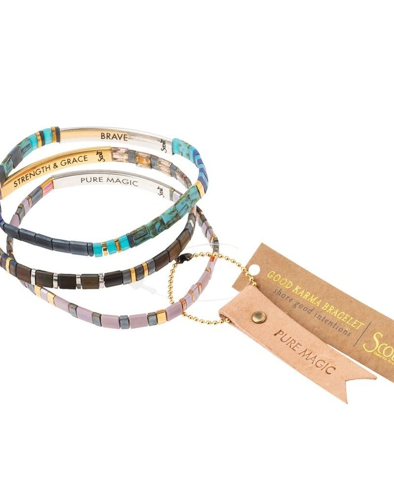 Scout Curated Wears Scout Good Karma Miyuki Bracelet - Pure Magic in Dusk/Silver