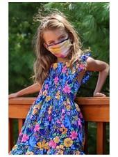 Coin1804 Kids Rainbow Tie Dye Face Mask