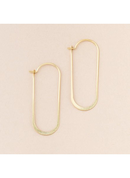 Scout Curated Wears Cosmic Oval Earrings in 18K Gold Vermeil