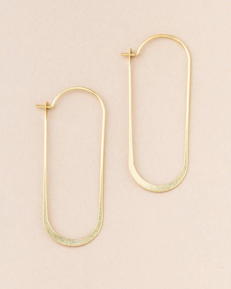 Scout Curated Wears Scout Refined Collection Cosmic Oval Earrings in 18K Gold Vermeil