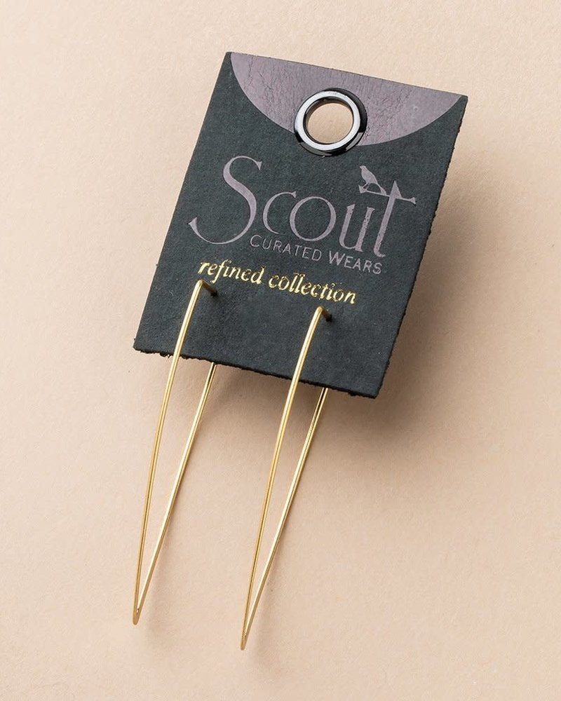 Scout Curated Wears Scout Refined Collection Galaxy Triangle Earrings in 18K Gold Vermeil