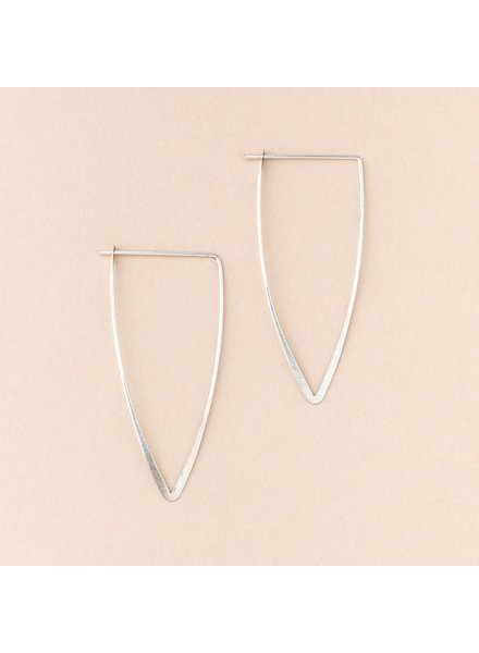Scout Curated Wears Galaxy Triangle Earrings in Sterling Silver