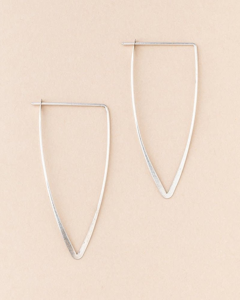 Scout Curated Wears Scout Refined Collection Galaxy Triangle Earrings in Sterling Silver