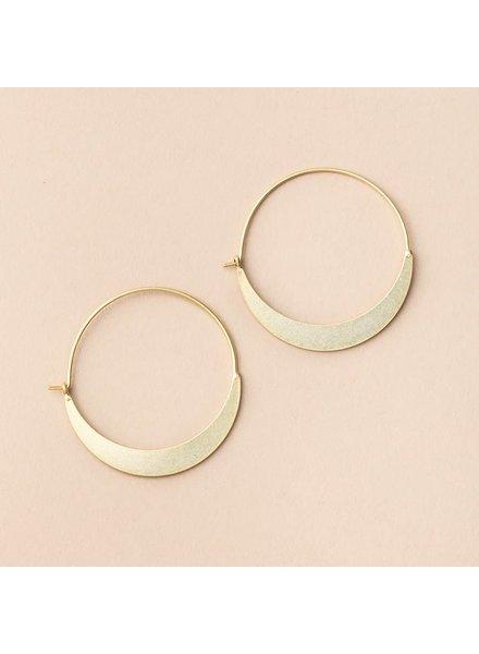 Scout Curated Wears Crescent Hoop Earrings in 18K Gold Vermeil