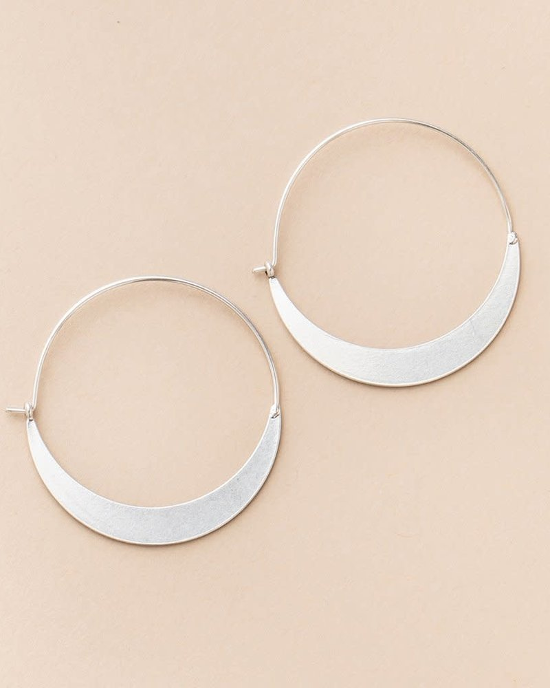 Scout Curated Wears Scout Refined Collection Crescent Hoop Earrings in Sterling Silver