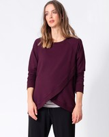 Seraphine Maternity Black Cherry 'Sybil' Front Wrap Sweater