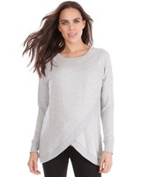 Seraphine Maternity Grey Marl 'Sybil' Front Wrap Sweater