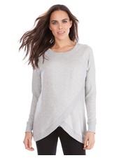 Seraphine Maternity Grey Marl 'Sybil' Front Wrap Sweatshirt