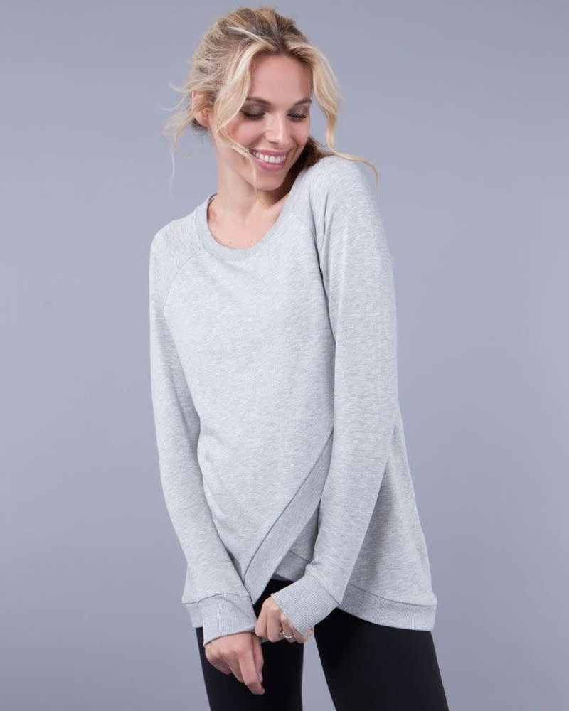 Seraphine Maternity Seraphine Maternity Grey Marl 'Sybil' Front Wrap Sweatshirt
