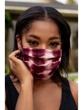 Veronica M Adult Adjustable Merlot Tie Dye Face Mask