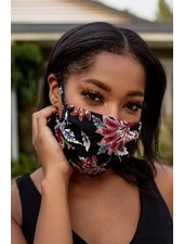 Veronica M Adult Adjustable Fall Floral Face Mask