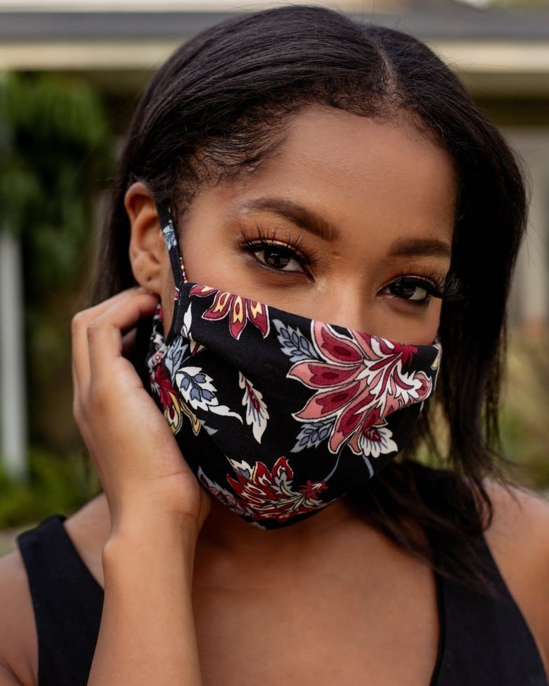 Veronica M Veronica M Adult Adjustable Fall Floral Face Mask