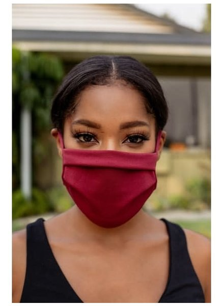 Veronica M Adult Adjustable Autumn Merlot Face Mask