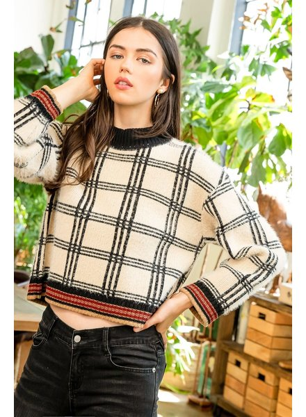 THML 'Plaid Me Please' Sweater