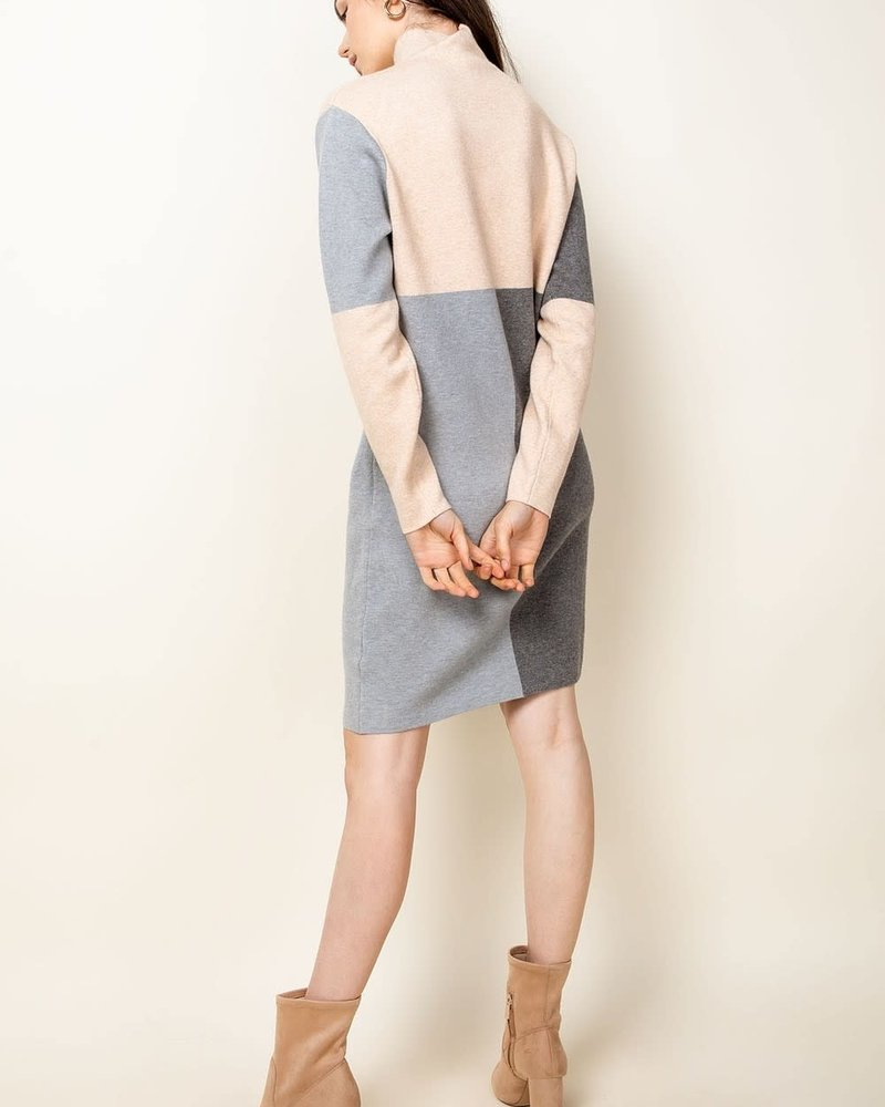 THML THML Beige 'Take Me Back In Time' Sweater Dress