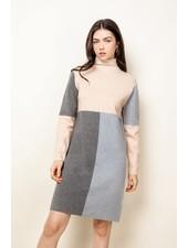 THML Beige 'Take Me Back In Time' Sweater Dress