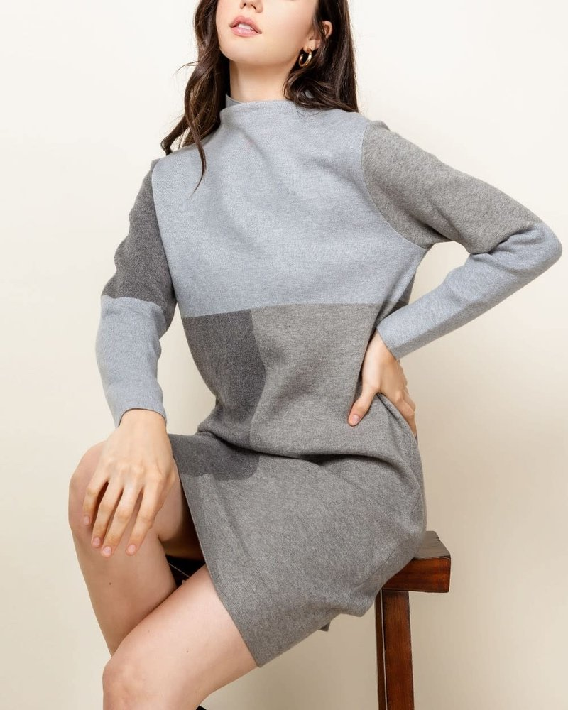 THML THML Grey 'Take Me Back In Time' Sweater Dress