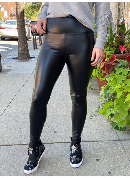 RD Style 'Black Out' Faux Leather Legging