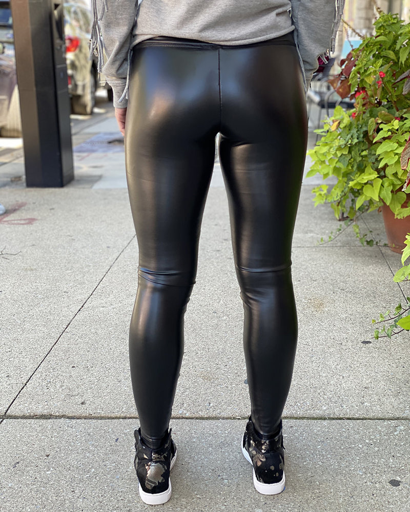 RD Style RD Style 'Black Out' Faux Leather Legging