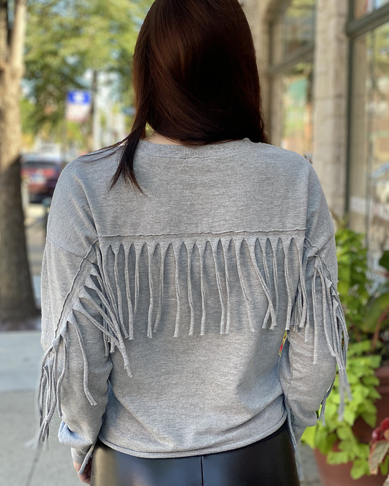 RD Style RD Style 'Shake It' Fringe Sweatshirt