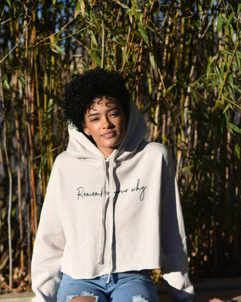 Know Purpose Know Purpose 'Remember Your Why' Cropped Hoodie