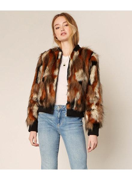 Cupcakes & Cashmere 'Petras' Faux Fur Jacket (Small) **FINAL SALE**