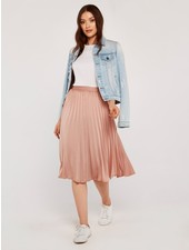 Apricot 'Sweet As Can Be' Pleated Skirt