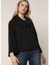 BB Dakota Black 'Rib It Up' Cowl Neck Top