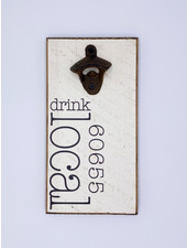 Rustic Marlin Personalized Drink Local Bottle Opener | 60655