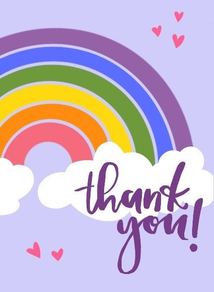 Belle Up Rainbow Thank You e-Gift Card