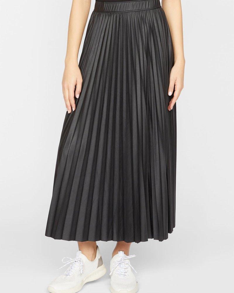 Sanctuary Clothing Sanctuary 'Top Secret' Vegan Leather Pleated Midi Skirt **FINAL SALE**