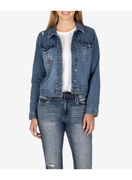 Kut from the Kloth 'Amelia' Denim Jacket in Society