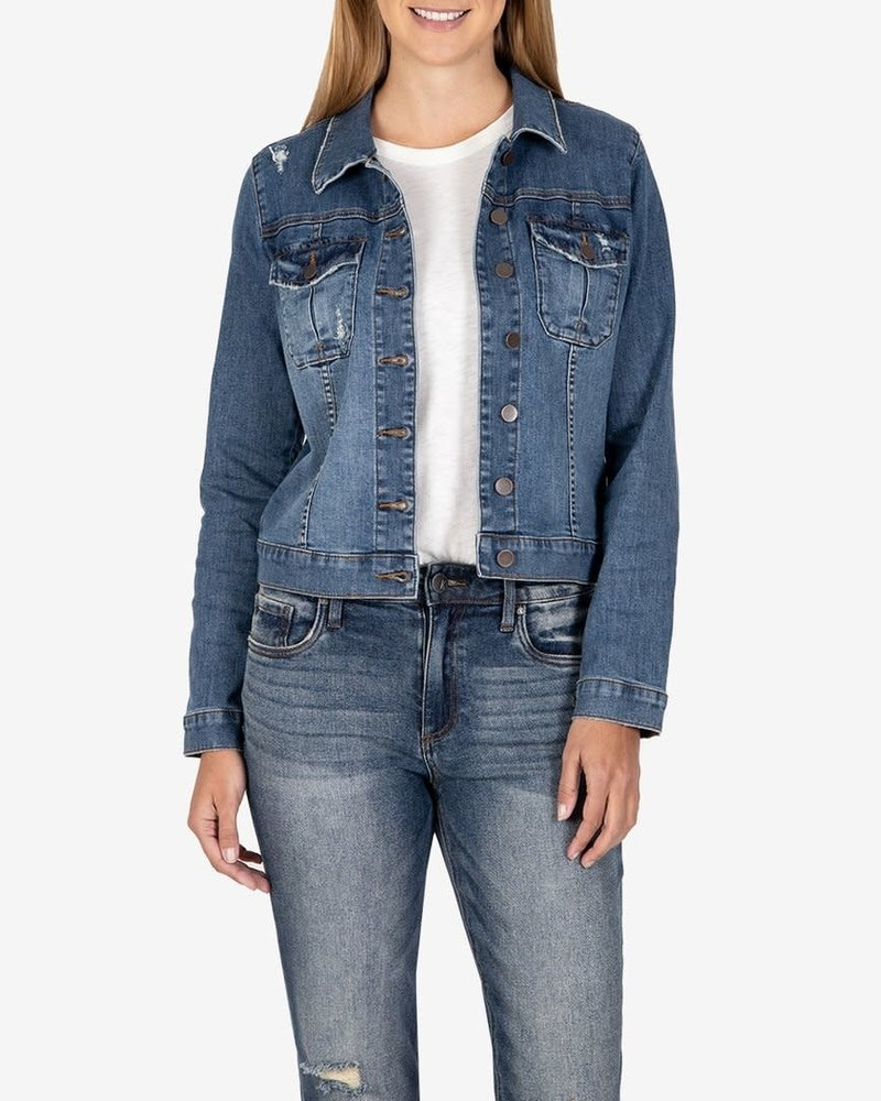 Kut from the Kloth Kut from the Kloth 'Amelia' Denim Jacket in Society