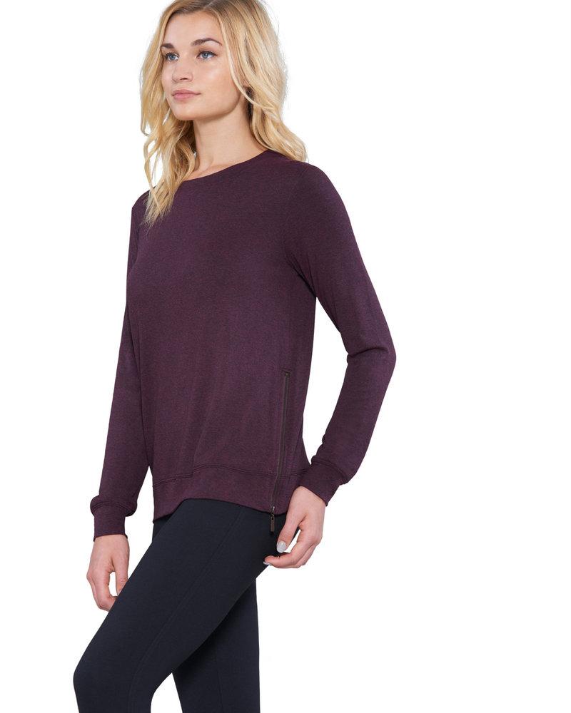 Matty M Matty M Burgundy Zip Up Sweatshirt