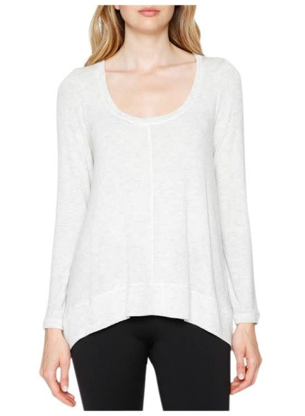 Matty M Seamed Hi-Low Hem Top
