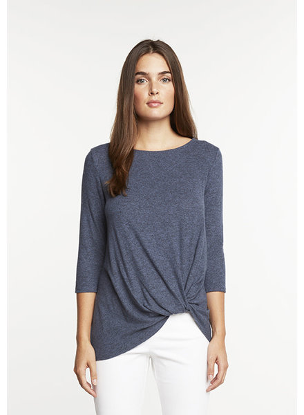 Matty M 3/4 Sleeve Knot Knit Top