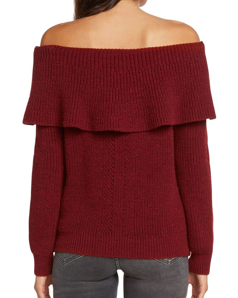 Willow & Clay Willow & Clay Off Shoulder Sweater