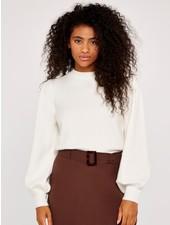 Apricot 'Snow White' Balloon Sleeve Sweater