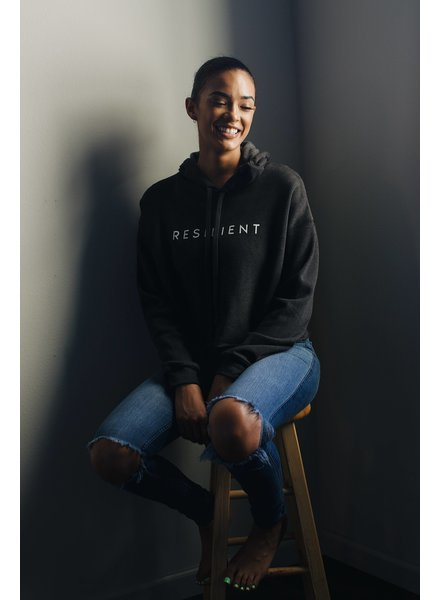Know Purpose Black 'Resilient' Cropped Hoodie