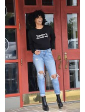 Know Purpose 'Together Is the Only Way' Cropped Sweatshirt