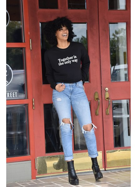 Know Purpose 'Together Is the Only Way' Cropped Sweatshirt **FINAL SALE**