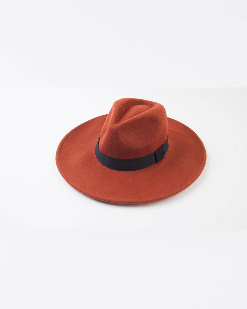 Lucca Couture Lucca Couture Rust 'Mariana' Wool Fedora