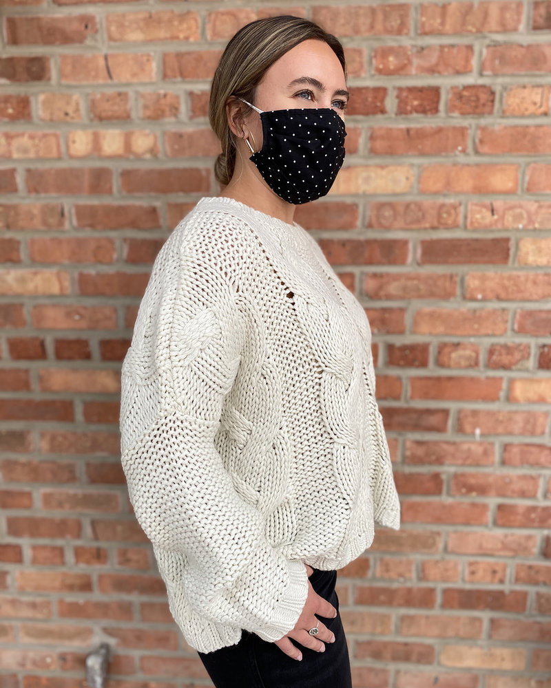 RD Style RD Style 'Draped Over' Oversized  Cropped Sweater