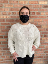 RD Style 'Draped Over' Oversized  Cropped Sweater